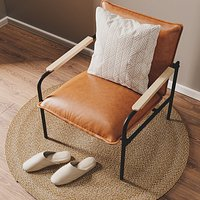 Leather Lounge Chair Wesley Faux Set