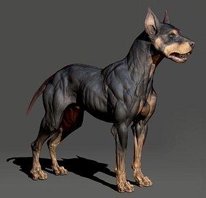 dog animal 3D