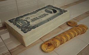 3D russian money