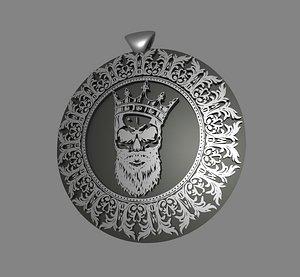 skull beard pendant 3D model