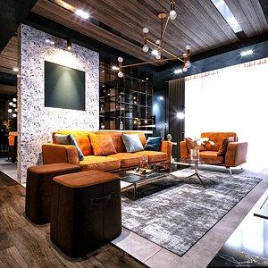 scene furniture room 3D model