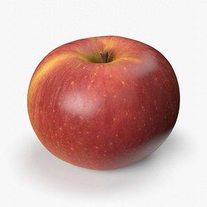 3D red apple scan pbr model