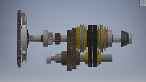 3D clutch and gearbox car