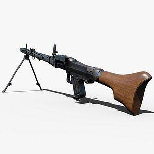 Maschinengewehr 34 - MG 34 - WW2 German Weapon 3D model