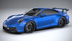 3D Porsche 911 GT3 2022 LowPoly