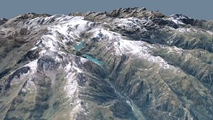 Mountain National park Hohe Tauren model