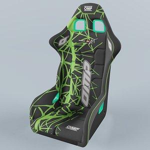 3D OMP WRC-R  ART Racing Seat Green