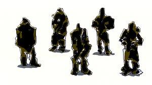 crowd mutant 3D model