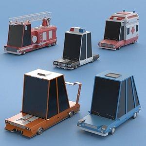 3D cars set 4