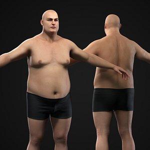 3D Plus size man body