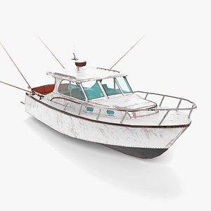 3D fishing boat