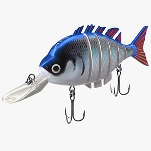 3D model Rose Kuli Trout Bass Fishing Lure