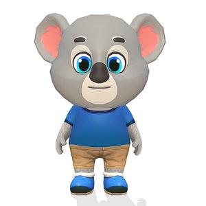 koala bear animations rig 3D