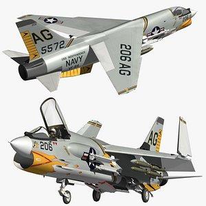 Vought F8 Crusader VF84 3D