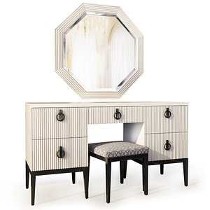 3D dressing table vanity lima model