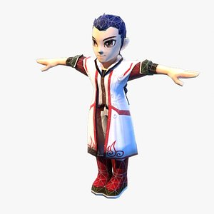 3D hero young japanese