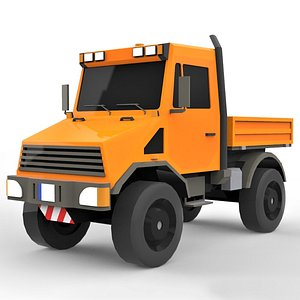3D model Cartoon Industrial Utility Truck 4X