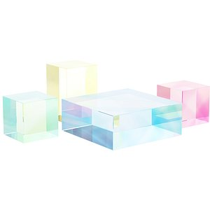 020 Multi-colored Pearl custom coffee table 03 3D model