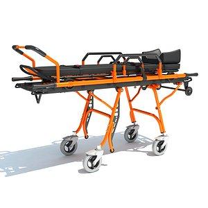 Ambulance Stretcher Trolley Pose 2 model