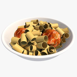 3D meatballs and pasta