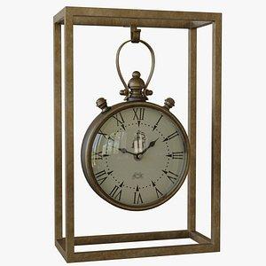 clock industrial mantel 3D model