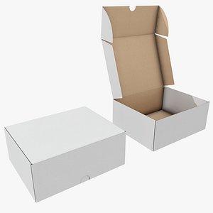 3D Cardboard Box 7 with Pbr 4K 8K