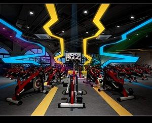 Fitness center 3D