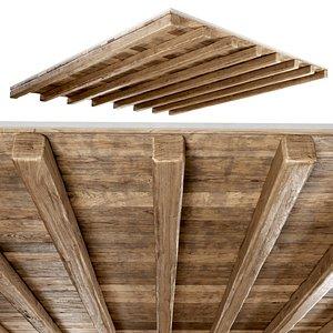 ceiling wooden wood model