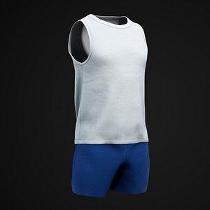 Shirt and shorts model