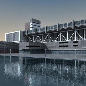 Modern Building 122 Scene 3D