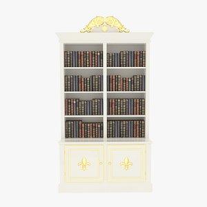 3D Bookcase Small White model