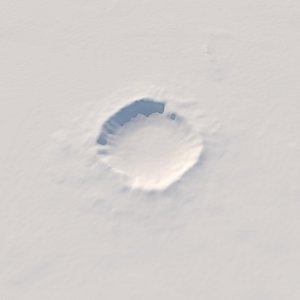 3D meteor crater arizona model