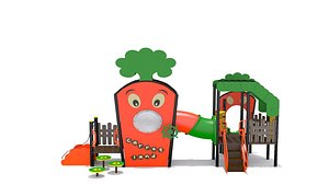 3D playground play carrot model