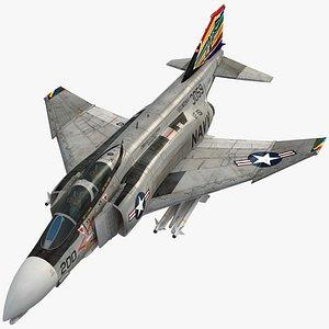 F4 B NAVY Phantom II Vigilantes VF-151 3D model