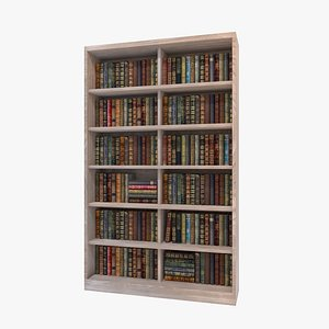 3D Old Bookcase