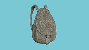 3D model Digital Camouflage Backpack - Character Fashion Design