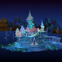 Cartoon Underwater Palace