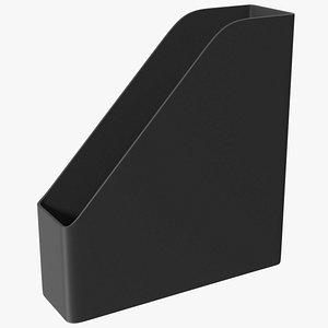 3D File Organizer Plastic Black
