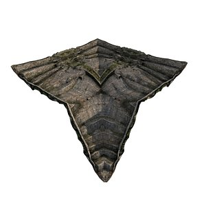 Pyramid Temple Wall 01 02 3D model