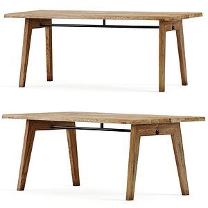 rustic dining table model