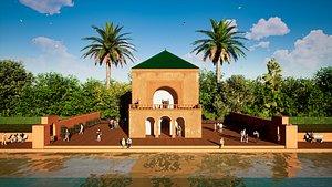 3D model Menara marrakech morocco