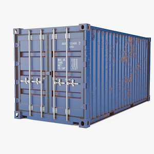 3D Rusted Shipping Container model