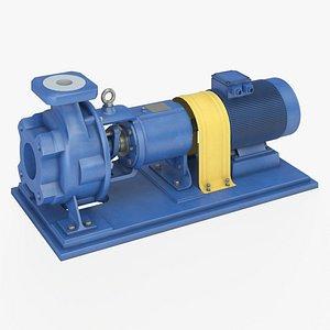 3D model pump centrifugal