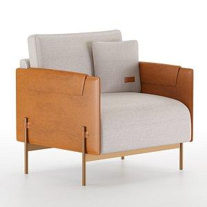 3D aston martin armchair