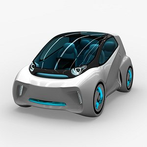 3D model electric car concept