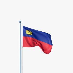 Animated Flag of Liechtenstein model