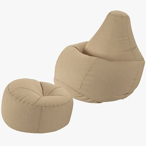 3D Bean Bag Chairs Collection V2