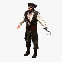 Real-Time Rigged Pirate Rogue 01