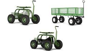 3D cart farm model