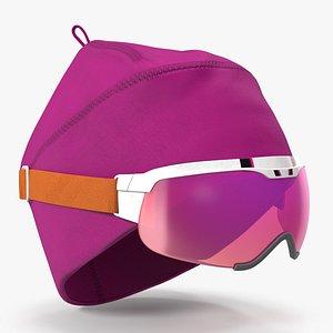 Ski Cap with Goggles 3D